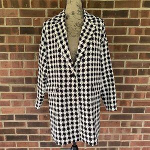 NWOT Forever 21 black white checker jacket coat
